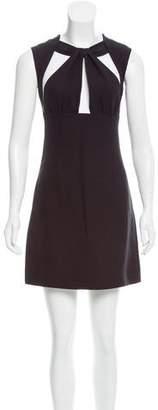 Miu Miu Silk Cutout Dress w/ Tags