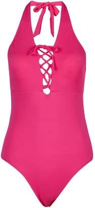Dorothy Perkins Womens *Dp Beach Pink Lace Up Swimsuit
