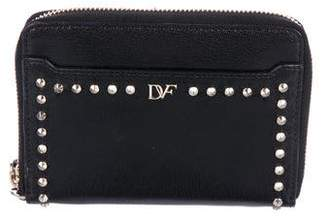 Diane von Furstenberg Studded Leather Zip Wallet