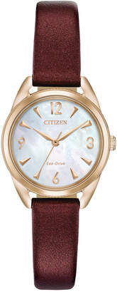 Citizen Drive from Eco-Drive Women Purple Vegan Leather Strap Watch 27mm