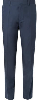HUGO BOSS Navy Genesis Slim-Fit Cotton Suit Trousers