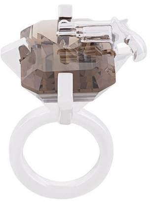 Mehem large rectangular gemstone ring