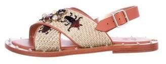 Sanchita Embellished Ankle-Strap Sandals