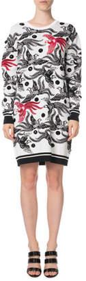 Kenzo Phoenix Jacquard Long-Sleeve Sweater Dress