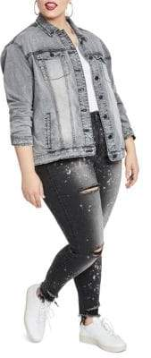 Rachel Roy Plus Oversized Denim Jacket