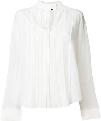 Jil Sander Navy pleated front blouse