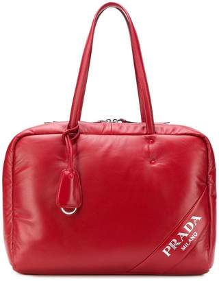 Prada padded leather tote bag