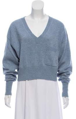 Chloé Cashmere-Blend Cropped Sweater