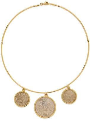 Dubini - Governors Of Tabaristan 18kt Gold Necklace - Womens - Silver