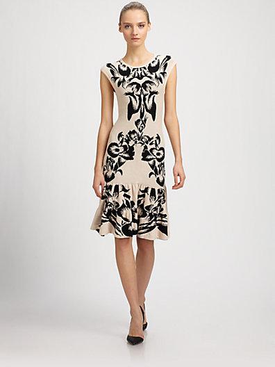 McQ Black Iris Jacquard Knit Flip Dress