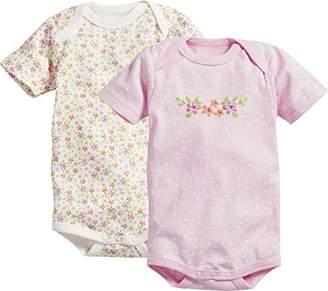 Playshoes Baby Kurzarm, 2er Pack Blumen, Oeko-Tex Standard 100 Bodysuit,(Manufacturer Size: 86/92)