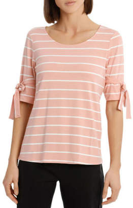Basque NEW Must Have Stripe Tee Dusty Pink