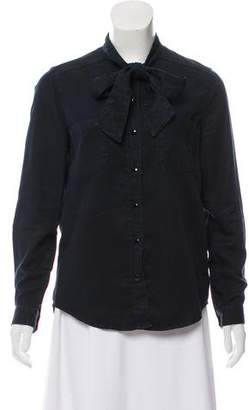 The Kooples Long-Sleeve Button Up Top