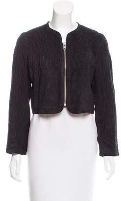 BLK DNM Leather-Suede Zip-Up Jacket