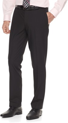 Apt. 9 Big & Tall Silk Touch Extra-Slim Fit Stretch Flat-Front Dress Pants