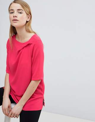 Louche Ruched Front Shell Top