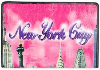 Balenciaga pink New York Bazar Leather Pouch
