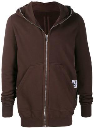 Rick Owens longline zip front hoodie