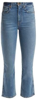 Khaite - Benny Mid Rise Kick Flare Jeans - Womens - Denim