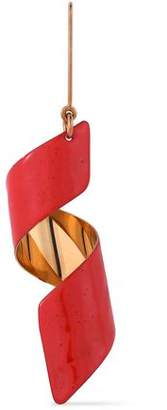 Stella McCartney Coated Gold-Tone Earring