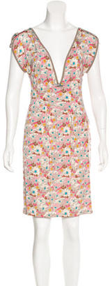 Twin.Set Crepe Layered Scoop Neck Dress $75 thestylecure.com