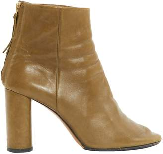 Isabel Marant Garett Green Leather Ankle boots