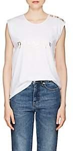 Balmain Women's Logo Cotton Sleeveless T-Shirt - White