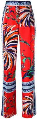 Emilio Pucci mixed print trousers $1,257 thestylecure.com
