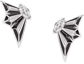 Stephen Webster Fly by Deco Drive 18k Diamond Stud Earrings
