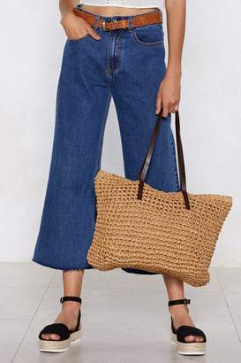 Nasty Gal WANT Quick On the Straw Tote Bag