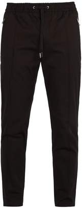 Dolce & Gabbana Cotton-blend track-style trousers