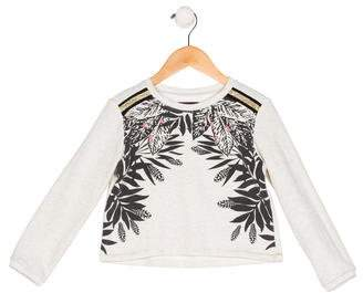 Catimini Girls' Printed Embellished Sweater