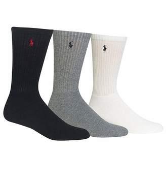 Ralph Lauren Polo men's socks Classic Cotton crew assorted 3 pairs