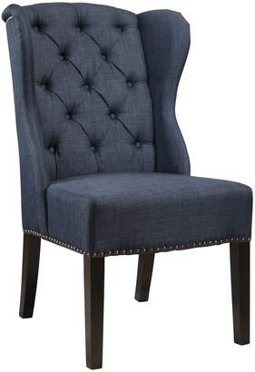 Abbyson Living Sierra Navy Tufted Wingback Dining Chair