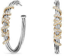 David Yurman Helena Large Hoop Earrings with Diamonds