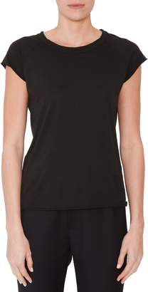 Nili Lotan Short Sleeve Black Tee