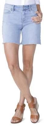 NYDJ Jenna Embroidered Seam Shorts