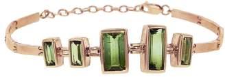 Celine Daoust Green Tourmaline Baguette Bracelet