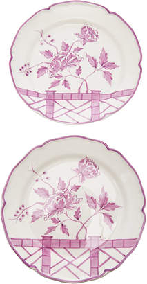 Alex Papachristidis Set-of-Two Le Jardin Chinois Dessert Plate