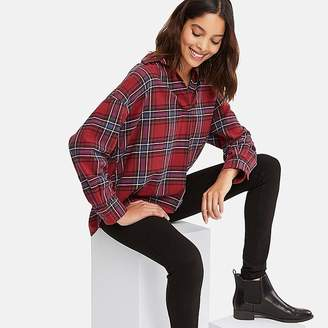 Uniqlo Women's Flannel Checked Skipper Long-sleeve Shirt