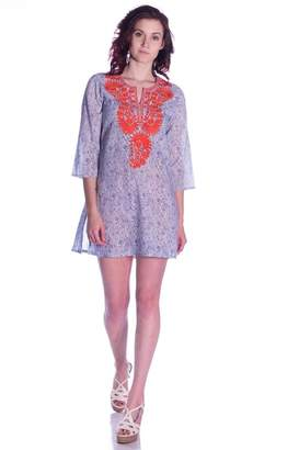 Roberta Roller Rabbit Paisley Embroidered Tunic