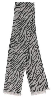 Rachel Zoe Printed Raw-Edge Scarf