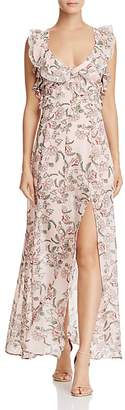 For Love & Lemons Bee Balm Ruffled Maxi Dress $290 thestylecure.com