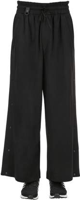 Y-3 Cotton Blend Track Pants W/ Snaps