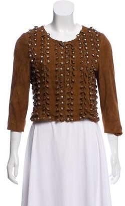 Gryphon Embellished Suede Jacket