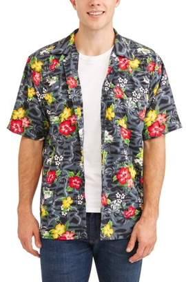 Walnut Creek Men's Rayon Printed Hawaiian Short Sleeve Shirt