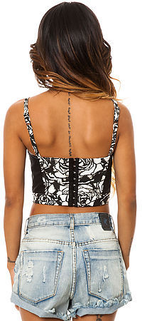 Hellz Bellz BOTB by The Justice Corset in Black and White
