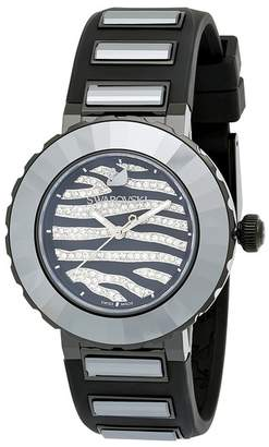 Swarovski Women's New Octea Crystal Accented Zebra Sports Watch, 39mm