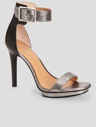 Calvin Klein vable metallic leather sandal