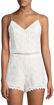 Lovers And Friends Songbird Crochet Lace Bow-Back Romper
